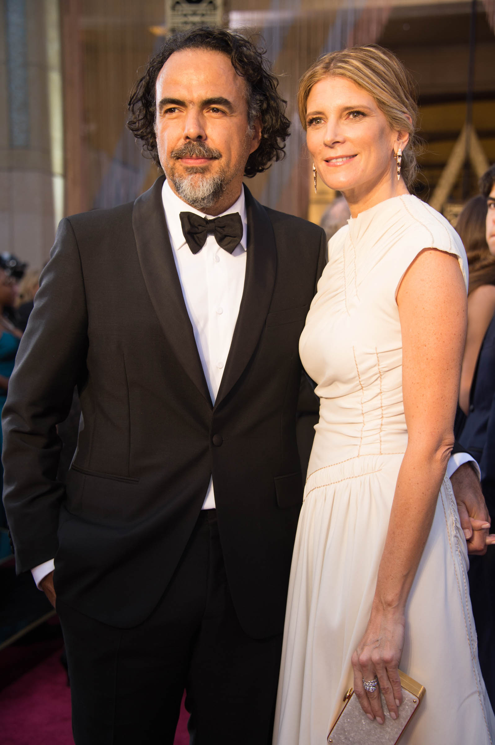 Oscar®-nominee, Alejandro Gonzalez Iñarritu and guest arrive at The 88th Oscars® at the Dolby® Theatre in Hollywood, CA on Sunday, February 28, 2016. Photo Credit: Phil McCarten / ©A.M.P.A.S.