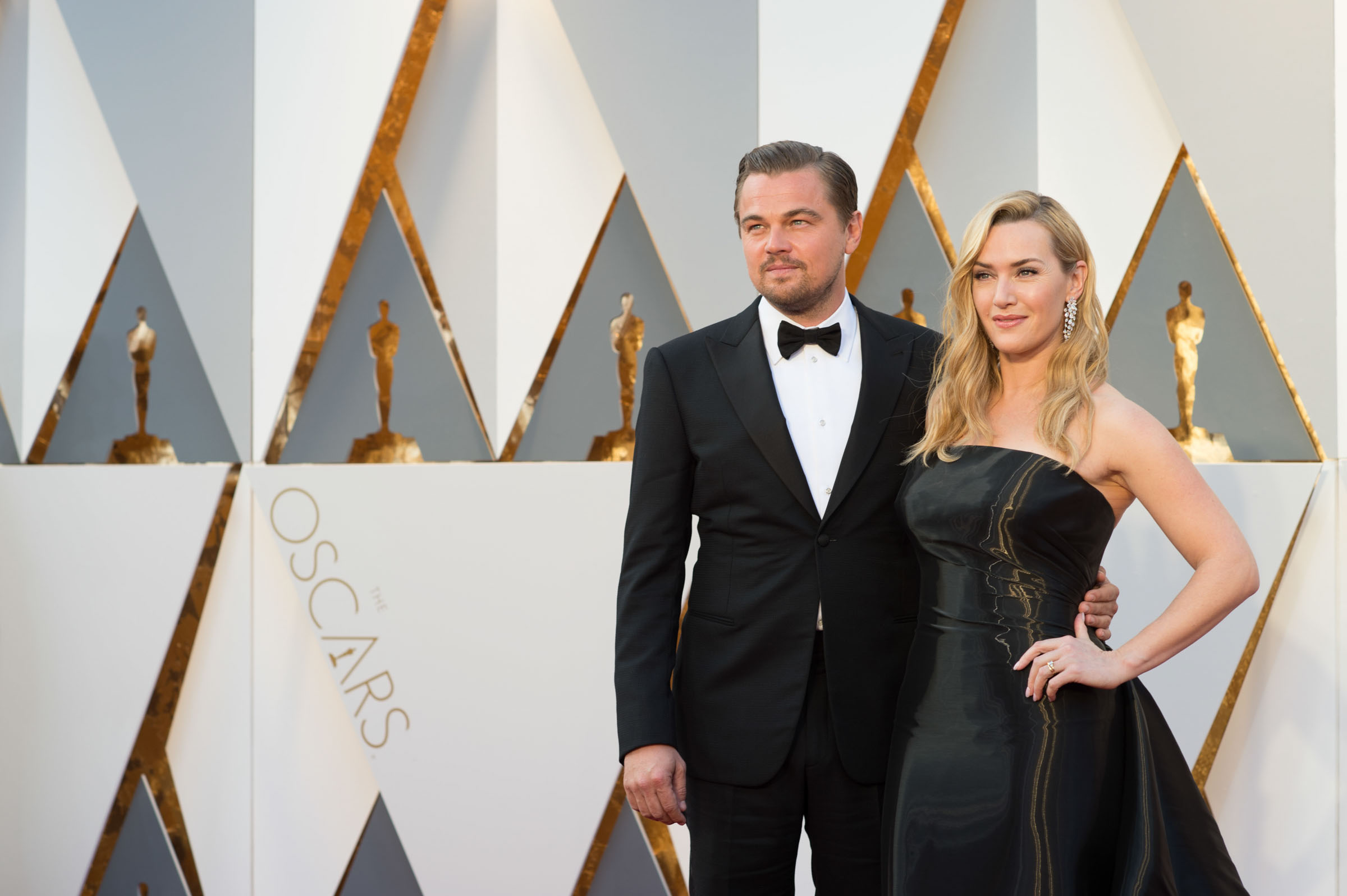 Oscar®-nominees Leonardo DiCaprio and Kate Winslet arrive at The 88th Oscars® at the Dolby® Theatre in Hollywood, CA on Sunday, February 28, 2016. Photo Credit: Aaron Poole / ©A.M.P.A.S.