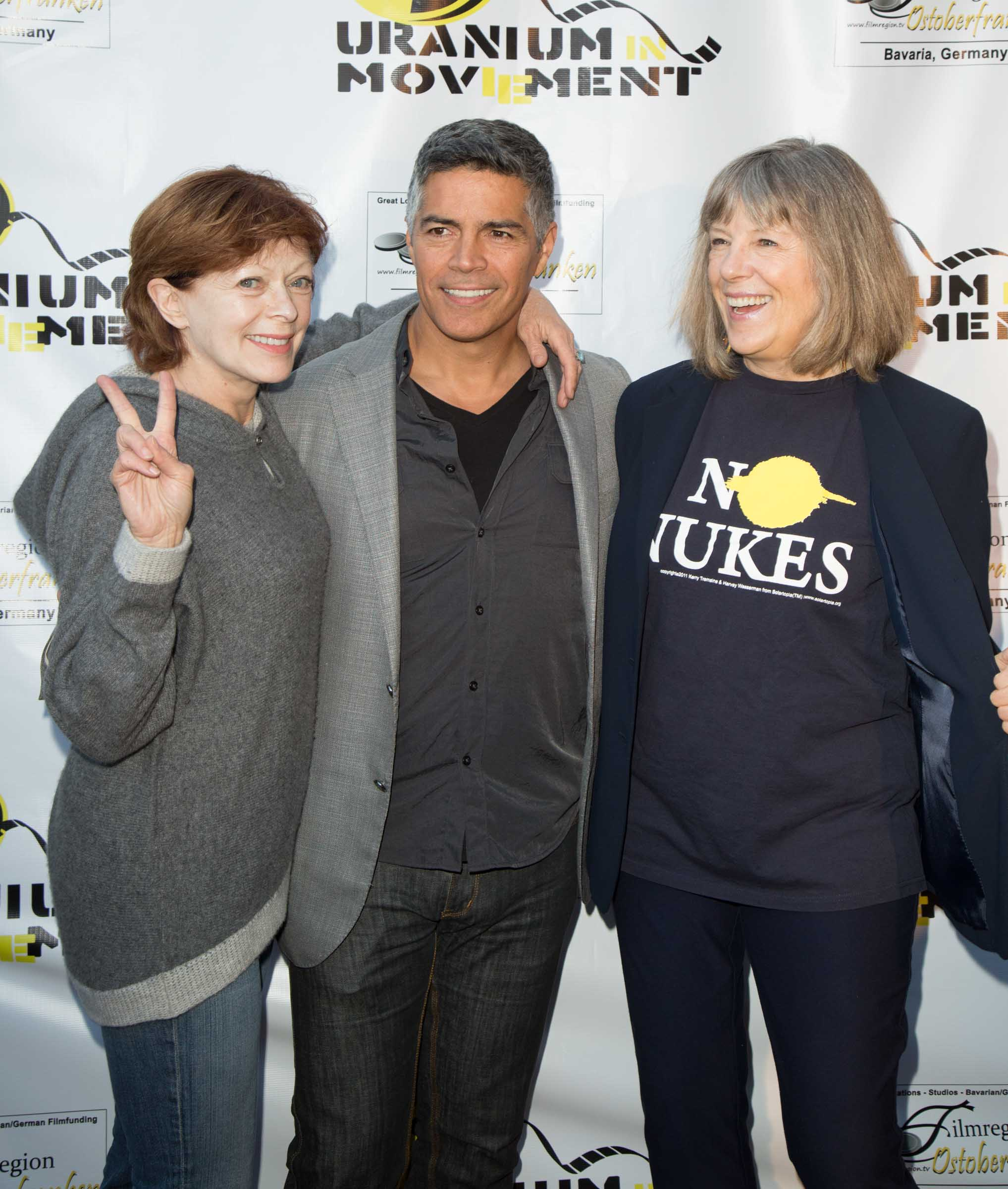 Actors Frances Fisher, Esai Morales and Mimi Kennedy