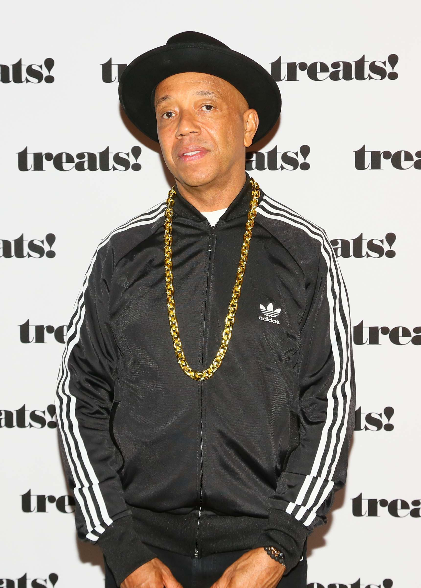 LOS ANGELES, CA - OCTOBER 29: Entrepreneur Russell Simmons attends Trick or treats! - The 6th Annual treats! Magazine Halloween Party Sponsored by Absolut Elyx on October 29, 2016 in Los Angeles, California.  (Photo by Gabriel Olsen/WireImage)