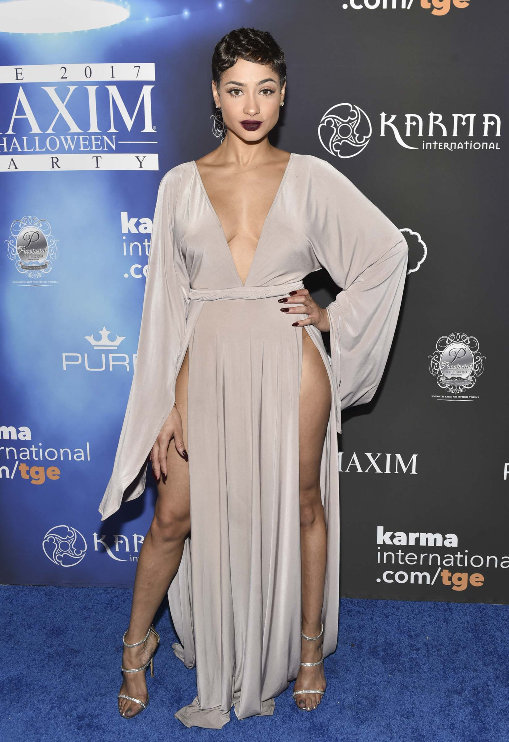 los angeles ca october 21 tori hughes arrives at the 2017 maxim halloween party at la center studios on october 21 2017 in los angeles california